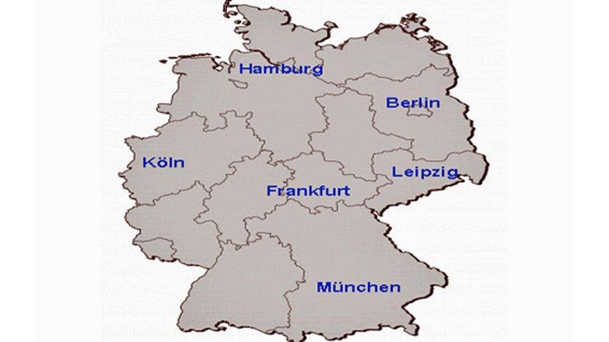 Deutschland-Karte   Standorte der ver.di-FilmUnion