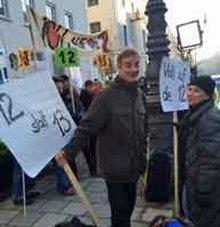 Demonstration der ver.di FilmUnion anlässlich der 3. Verhandlungsrunde TV FFS