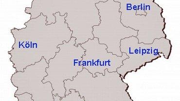 Deutschland-Karte | Standorte der ver.di-FilmUnion