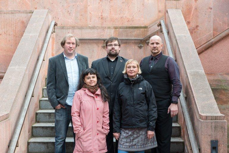 DOK Leipzig 2016: Die ver.di-Jury: Ludwig Sporrer, Nancy Brandt, Tobias Baumann, Cornelia Hudl und Jan-Markus Holz (v.r.n.l.)