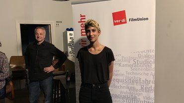 Gunther Eschke und Mala Reinhard im ausverkauften Studio des WOLF Kino Neukölln